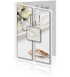 Mooie luxe trouwkaarten zelf maken, een bloemenkaart.