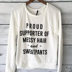 Proud Supporter of Messy Hair and Sweat Pants Shirt Long Sleeved... (395 MXN) ❤ liked on Polyvore featuring tops, sweaters, black, women's clothing, long sleeve tops, long sleeve shirts, extra long sleeve shirts, black top and black shirt