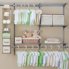 Found it at Wayfair - Nursery Closet Storage Sethttp://www.wayfair.com/Delta-Children-Nursery-Closet-Storage-Set-DEL1710.html?locale=en_US&refid=SBP.rBAZKFP7ZXMYSVxN0EmVAgAAAAAAAAAAAAAAAAAAAAA