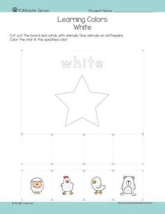 Fun preschool color activities for your kids. Download, print it, cut out the board and cards at the bottom, glue it to the clothespins and have fun!