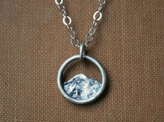 Tiny Mountain Necklace  Simple Silver Nature by GatherAndFlow $50