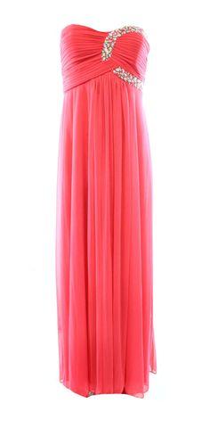 Onyx Nite NEW Pink Women's 10 Embellished Pleated Empire Waist Dress $159