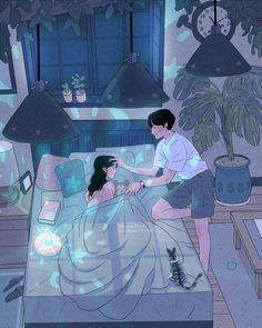This Korean Artist Giving Serious Through His Illustration Drawing Cute Couple Drawings, Cute Couple Art, Anime Love Couple, Cute Anime Couples, Cute Drawings, Art And Illustration, Korean Illustration, Art Anime, Anime Kunst