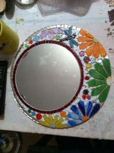 Floral #Mosaic #Mirror