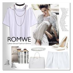 """romwe"" by ilona-828 ❤ liked on Polyvore featuring Canvas by Lands' End, Prada, Jimmy Choo, romwe and polyvoreeditorial"