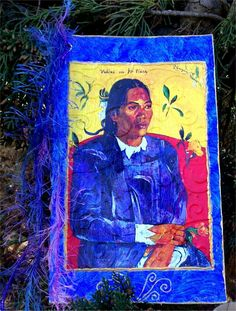 "Tarjeta Postal reciclada "" Gauguin"" de La Terra por DaWanda.com"