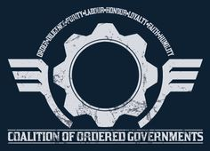 Coalition of Ordered Governments T-Shirt - Inspired by Gears of War. Gamer t-shirt. £15.00