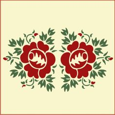 Rose Double Stencil | Gorgeous home decor and crafting stencil from The Artful Stencil! US Shipping in only 5 days. We ship all over the world.