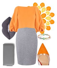 Orange by cordelia-fortuna on Polyvore featuring polyvore fashion style Dorothy Perkins TIBI Gianvito Rossi Aéropostale Ippolita Lime Crime clothing