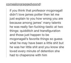 James Potter and McGonagall