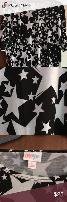 ❤️❤️NWOT LULAROE IRMA BLACK W WHITE STARS SZ SM ❤️❤️NWOT LULAROE IRMA BLACK W WHITE STARS SZ SM. BRAND NEW NEVER WORN CUTE BLACK IRMA WITH WHITE STARS LuLaRoe Tops Tunics