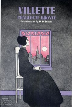 Harper Colophon paperback book cover designed and illustrated by Emanuel Schongut (circa 1960s). The book is titled Villette, author Charlotte Bronte