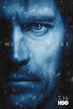 Game of Thrones season 7 character poster of Jaime Lannister (Nikolaj Coster Waldau) Game Of Thrones Saison, Game Of Thrones Jaime, Game Of Thrones Winter, Batwoman, Robert Pattinson, Jamie Lannister, Game Of Throne Poster, Serie Got, Poster