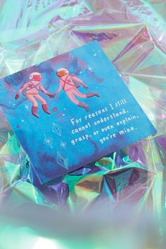 Front Message: For reasons I still cannot understand, grasp, or even explain, you're mine. Inside Message: Lucky me. Shop Valentine's Day greeting cards for that special someone in your life. Fun Mail, Valentine's Day Greeting Cards, Envelope Design, Youre Mine, Writing Styles, Watercolor Design, Love Cards, Be My Valentine, Card Sizes