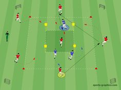 Soccer Practice Drills, Football Coaching Drills, Soccer Training Drills, Soccer Workouts, Blue Football, Red Team, Sports Graphics, Football Program, Exercise