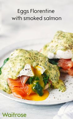 Create the ultimate weekend brunch with our recipe for eggs Florentine with smoked salmon. Season with black pepper before serving. Tip: If poaching eggs for a crowd, cook them for just 3 ½ minutes, drain then slide into iced water. When ready to serve, return the eggs to barely simmering water and heat through for 30-40 seconds. Remove with a slotted spoon and serve. See the recipe on the Waitrose website.
