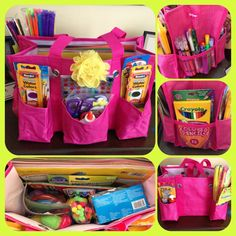 organizing utility tote for arts & crafts supplies