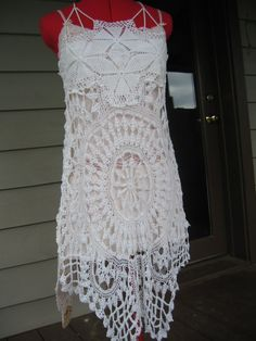 On sale from 155.00  Doily Dress  OOAK Dress  by CoyoteWoodWorks, $135.00