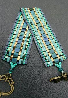 Simply Gorgeous. Miyuki Tila Bead Bracelet. Handcrafted Bracelet. Artisan Bracelet. Hand Beaded Bracelet. Tila Bracelet. Beadwork Bracelet