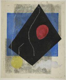 Onchi Koshiro Japanese, 1891-1955, Poem No. 4: Spring, 1948, 50.1 x 42.0 cm