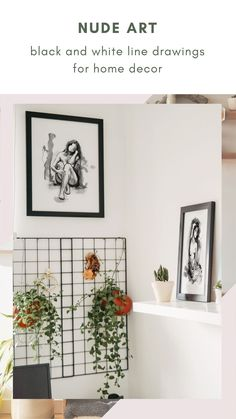This collection of black and white line art features the body of woman in an elegant and stylish way. An evergreen series for your home decor, with great sensibility and good taste. #artisticprints #blackandwhite #wallartdecor Gesture Drawing, Line Drawing, Drawing Style, Wall Art Decor, Wall Art Prints, Fine Art Prints, Art Of Living, Living Room, Black And White Lines