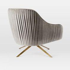 Roar + Rabbit Chair, Luster Velvet, Dusty Blush