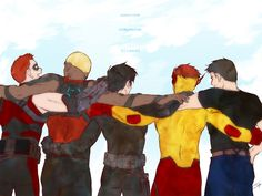 Friends by baveyoon.deviantart.com on @deviantART --Young Justice boys