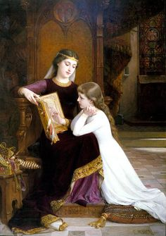 Emile Munier Autrefois  Art, posters and prints of a woman or women reading repinned by www.AboutHarry.com
