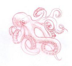tattoo designs for women on back, single star tattoo, guru tattoo, upper insid Tattoos Mandala, Tattoos Geometric, Octopus Tattoos, Mermaid Tattoos, Small Octopus Tattoo, Squid Tattoo, Octopus Sketch, Octopus Drawing, Octopus Art