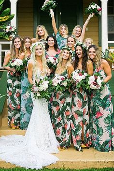 Most Beautiful Floral Bridesmaid Dresses ★ See more: https://weddingdressesguide.com/floral-bridesmaid-dresses/ #bridalgown #weddingdress