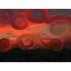 Sunset Night 3 Abstract Digital Painting signed art print 6x4  landscape nature 8x10 5x7 12x18 16x20 Painted Signs, Sunset, Art Prints, Landscape, Abstract, Night, Digital, Artist, Nature