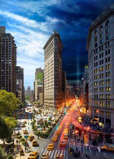 Dag & Nacht in de stad die nooit slaapt: New York. #newyork #bigapple https://www.hotelkamerveiling.nl/hotels/verenigde-staten/hotel-new-york.html