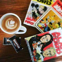 It's time for coffee, breakfast and Alan Ford 😍👌🍵 #coffee #alanford #beertijaosijek #osijek #goodmorning #haveaniceday