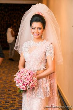Lase saree Kandyan bride with vail Sri Lankan Vintage kandyan bride Jehan Seedin Photography 2014