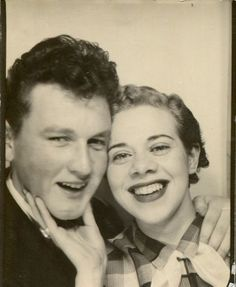 +~ Vintage Photo Booth Picture ~+  Crazy teen love!