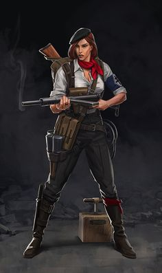 Female Heroes- Reichbusters by Mythic Games, Catalin Lartist Green Characters, Fantasy Characters, Female Characters, Female Character Design, Character Concept, Character Art, Female Hero, Female Soldier, Steampunk