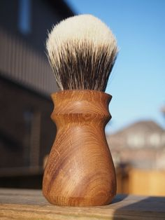 Old growth Oak shaving brush. by HarryWally on Etsy