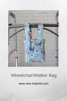 This small bag is perfect for holding your cell phone, wallet or remote close to you while using a wheelchair or walker. Straps come off and on with Velcro strips and are fully adustable.