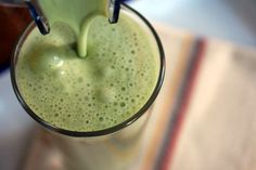 "A GREEN TEA SHAKE for Hot Days made from matcha - - Japanese powdered green tea is as refreshing as it is healthy. ""Blend matcha powder with milk, sugar, and ice for a GREEN FROTHY JOLT."" Substitute reduced fat, almond or coconut milk for the milk or honey for the sugar."