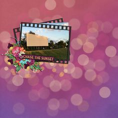 Drive-In Movie ~ Template by Queen Wild Scraps & kit is Under the Summer Stars by Magical Scraps Galore.