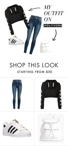 <3 by niurkajm on Polyvore featuring moda, Topshop, adidas and Boohoo