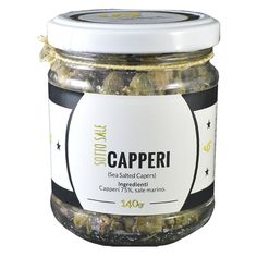 Capperi Siciliani sotto Sale. Sea Salted Sicilian Capers #Sicily #food #design #brand #capers