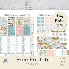 DO NOT BUY! Natural May Freebie 2018 kit.Erin Condren and Happy Planner weekly kit. Free Planner, Happy Planner, Planner Ideas, 2018 Planner, Planner Diy, Planner Supplies, Printable Designs, Free Printables, Freebies Printable