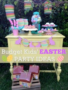 Here are so easy budget friendly kids' Easter party ideas! | CatchMyParty.com
