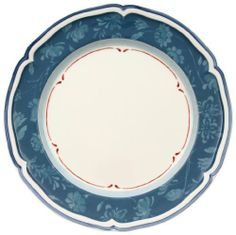 Villeroy & Boch Cottage Blue Dinner Plate by Villeroy & Boch. Save 35 Off!. $31.84. Dishwasher- and microwave-safe. Vitrified porcelain for strength and durability. Imported from Luxembourg and Germany. 10-1/4-inch blue stencil-rim salad plate in Cottage pattern. Mix and match plaid, berry and stencil patterns for charming country look. Amazon.com                A two-tone blue floral design and lightly scalloped rim evoke the quaintness of a cozy bungalow on this dinner plate in Vill...