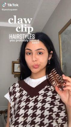 Clip Hairstyles, Pretty Hairstyles, Hair Inspo, Hair Inspiration, Hair Up Styles, Indie Hair, Aesthetic Hair, Hair Videos, Hair Looks