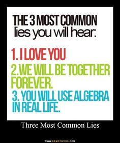 math, funni stuff, laugh, true, common lie
