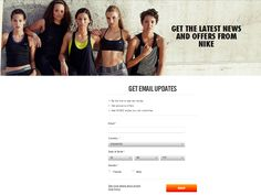 h&m newsletter landing page - incentive to sign up ...