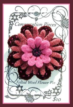 Wool FLOWER Pin