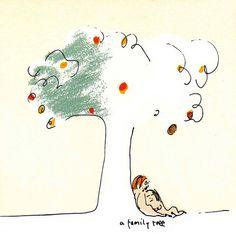 "Illustration ""A Family Tree"" by John Lennon, colored by Yoko Ono Lennon. From John Lennon Anthology CD box set booklet."